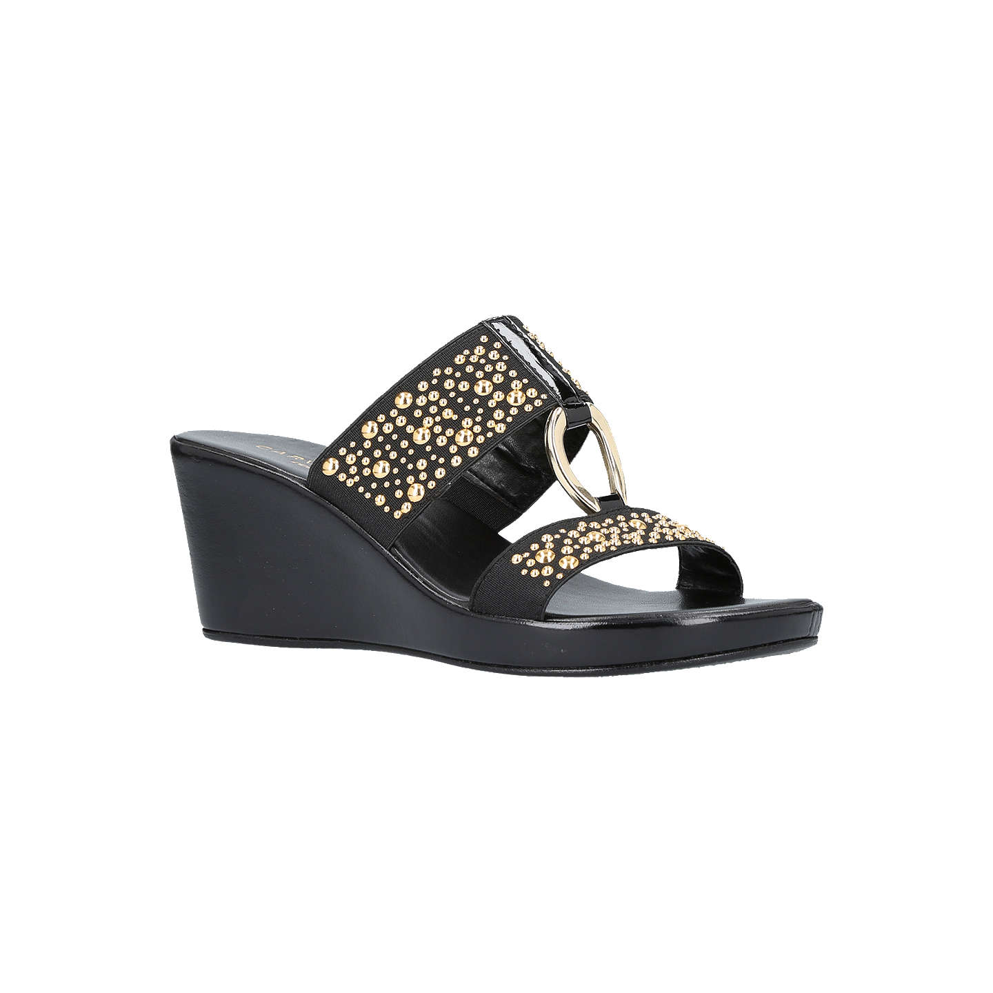 BuyCarvela Comfort Salt Wedge Heel Sandals, Black, 3 Online at johnlewis.com