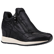 Buy Geox Nydame Wedge Heeled Zip Up Trainers Online at johnlewis.com