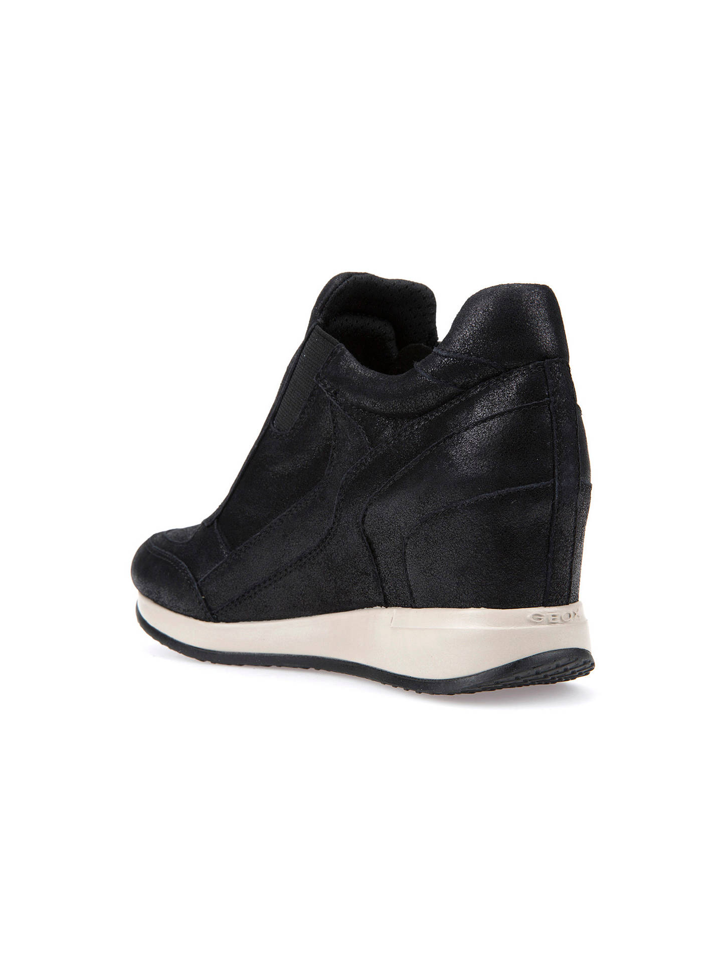 BuyGeox Nydame Wedge Heeled Zip Up Trainers, Black, 3 Online at johnlewis.com