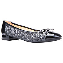 Buy Geox Wistrey Breathable Ballet Pumps, Gun/Black Online at johnlewis.com