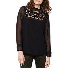 Buy Mint Velvet Victoriana Blouse, Black Online at johnlewis.com