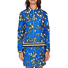 Buy Ted Baker Colour By Numbers Cheylan Floral Bomber Jacket, Dark Blue Online at johnlewis.com