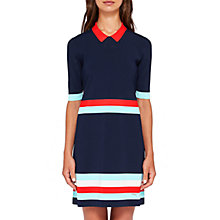 Buy Ted Baker Origami Colour-Block Dress, Dark Blue/Multi Online at johnlewis.com