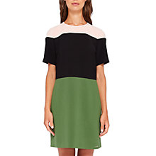 Buy Ted Baker Colour By Numbers Lantan Colour Block Tunic Dress, Green Online at johnlewis.com