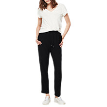 Buy Mint Velvet Short Length Side Stripe Sports Trousers, Navy Online at johnlewis.com