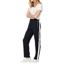 Buy Mint Velvet Luxe Short Length Stripe Trousers Online at johnlewis.com