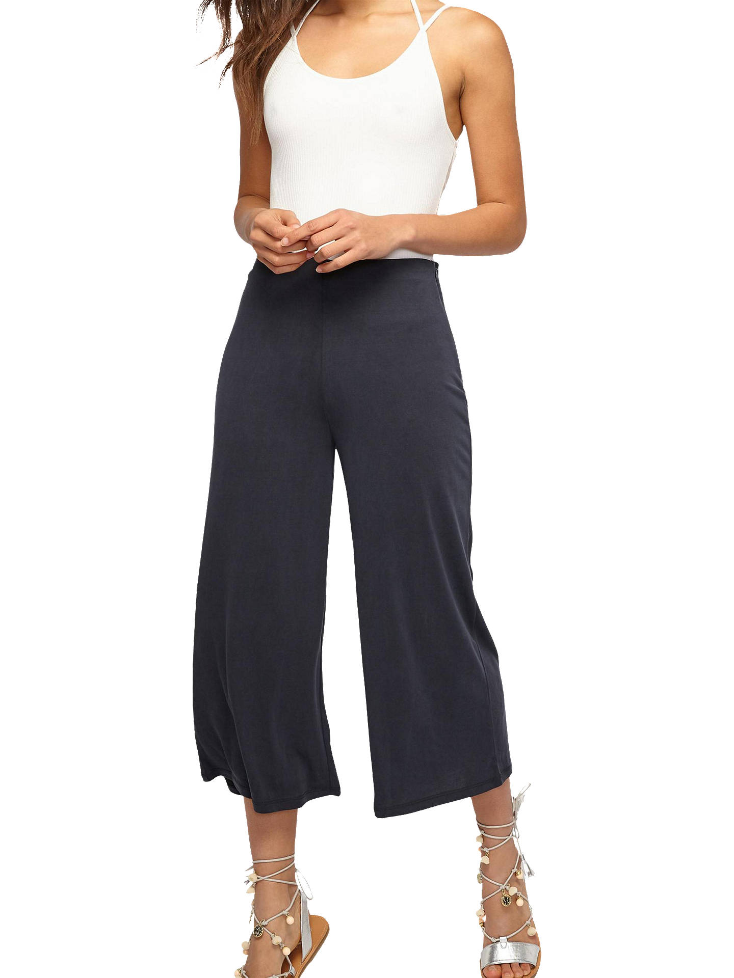 ca001952f0 Buy Miss Selfridge Soft Touch Wide Leg Trousers, Black, 6 Online at  johnlewis.