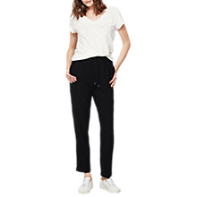Buy Mint Velvet Regular Length Side Stripe Sports Trousers, Black Online at johnlewis.com