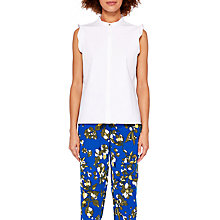 Buy Ted Baker Colour By Numbers Veryien Sleeveless Fitted Top, White Online at johnlewis.com