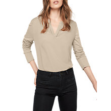 Buy Gerard Darel Ulysse Cotton Mix T-Shirt, Beige Online at johnlewis.com