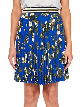Buy Ted Baker Colour By Numbers Zakai Floral Pleated Skirt, Dark Blue, 0 Online at johnlewis.com