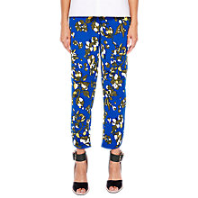 Buy Ted Baker Colour by Numbers Zairia Floral Jogger Trousers, Dark Blue Online at johnlewis.com