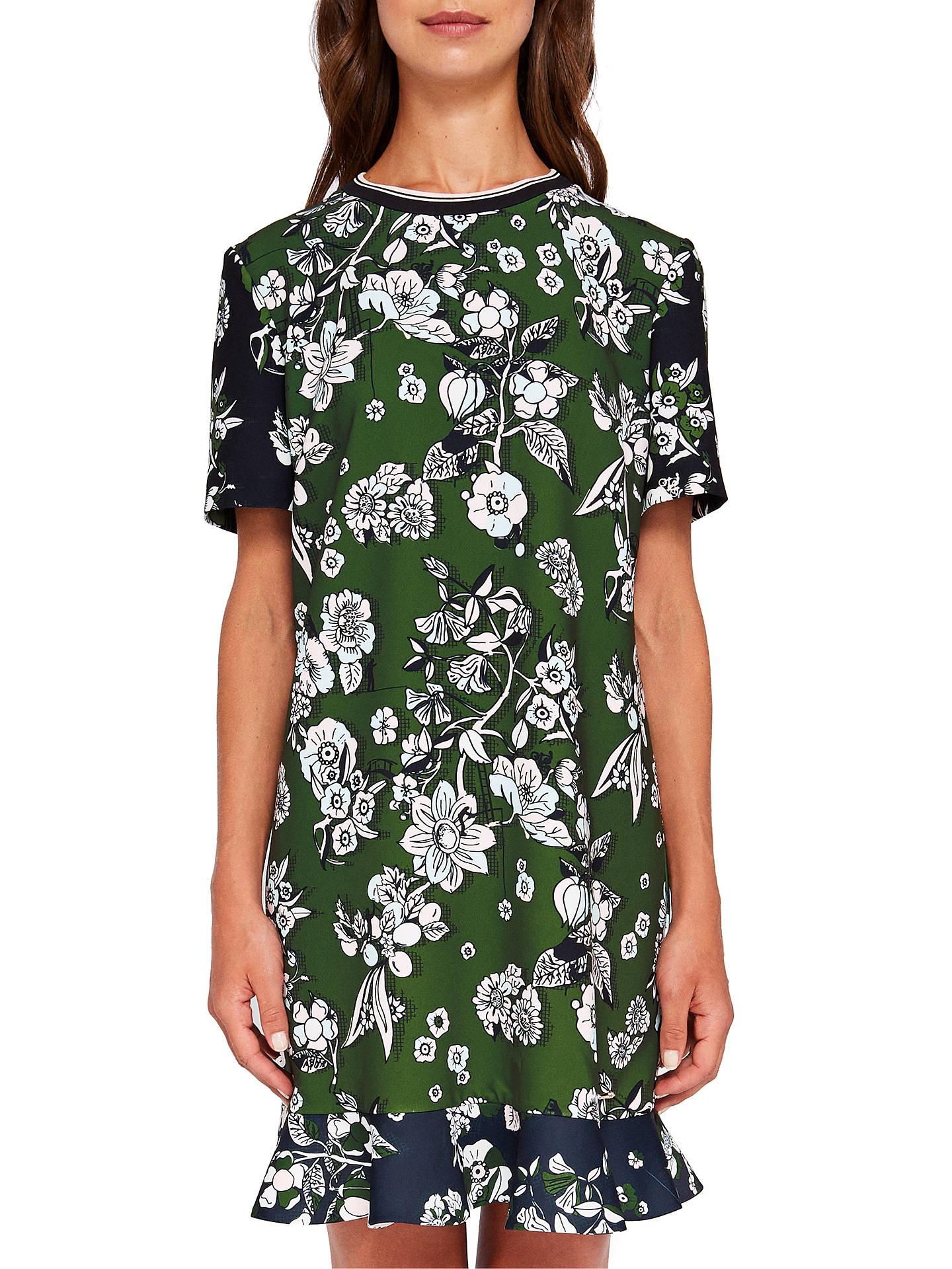 fbc54fcc48d Buy Ted Baker Hoster Floral Print Frill Hem Dress