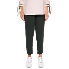 Buy Ted Baker Quenbie CBN Ankle Grazer Joggers With Piping Detail, Dark Green Online at johnlewis.com