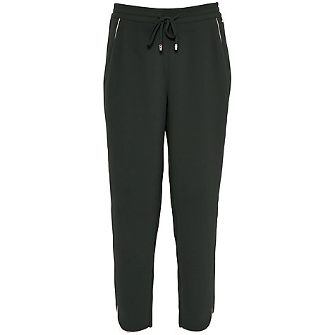 Buy Ted Baker Quenbie Colour By Numbers Ankle Grazer Joggers With Piping Detail, Deep Green Online at johnlewis.com