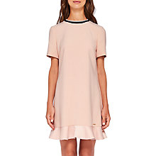 Buy Ted Baker Colour By Numbers Kittaa Peplum Dress, Nude/Pink Online at johnlewis.com