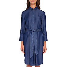 Buy Ted Baker Ivaa Colour By Numbers Shirt Dress, Mid Wash Blue Online at johnlewis.com