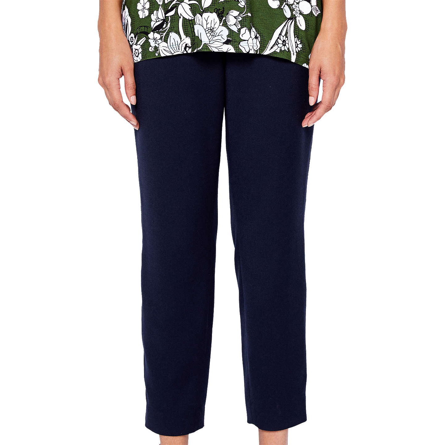 BuyTed Baker Baya Side Stripe Trousers, Navy, 0 Online at johnlewis.com