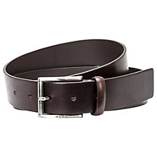Buy HUGO by Hugo Boss Geid Leather Belt, Brown Online at johnlewis.com