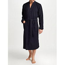 Buy BOSS Waffle Pique Kimono Robe, Navy Online at johnlewis.com