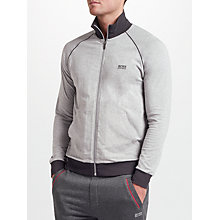 Buy BOSS Mix Match Zip Jacket, Grey Online at johnlewis.com