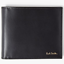 Buy Paul Smith Interior Stripe Bifold Leather Wallet, Black Online at johnlewis.com