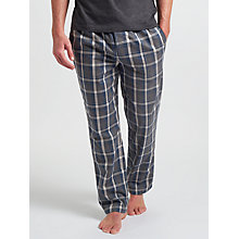Buy BOSS Cosy Check Lounge Pants, Blue/Grey Online at johnlewis.com