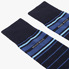 Buy BOSS Stripe Socks, Pack of 2, Navy Online at johnlewis.com