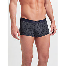 Buy BOSS Regular Rise Paisley Trunks, Navy Online at johnlewis.com