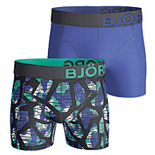 Buy Bjorn Borg Texture Plain Trunks, Pack of 2, Blue Online at johnlewis.com