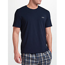 Buy BOSS Mix Match Logo T-Shirt, Navy Online at johnlewis.com