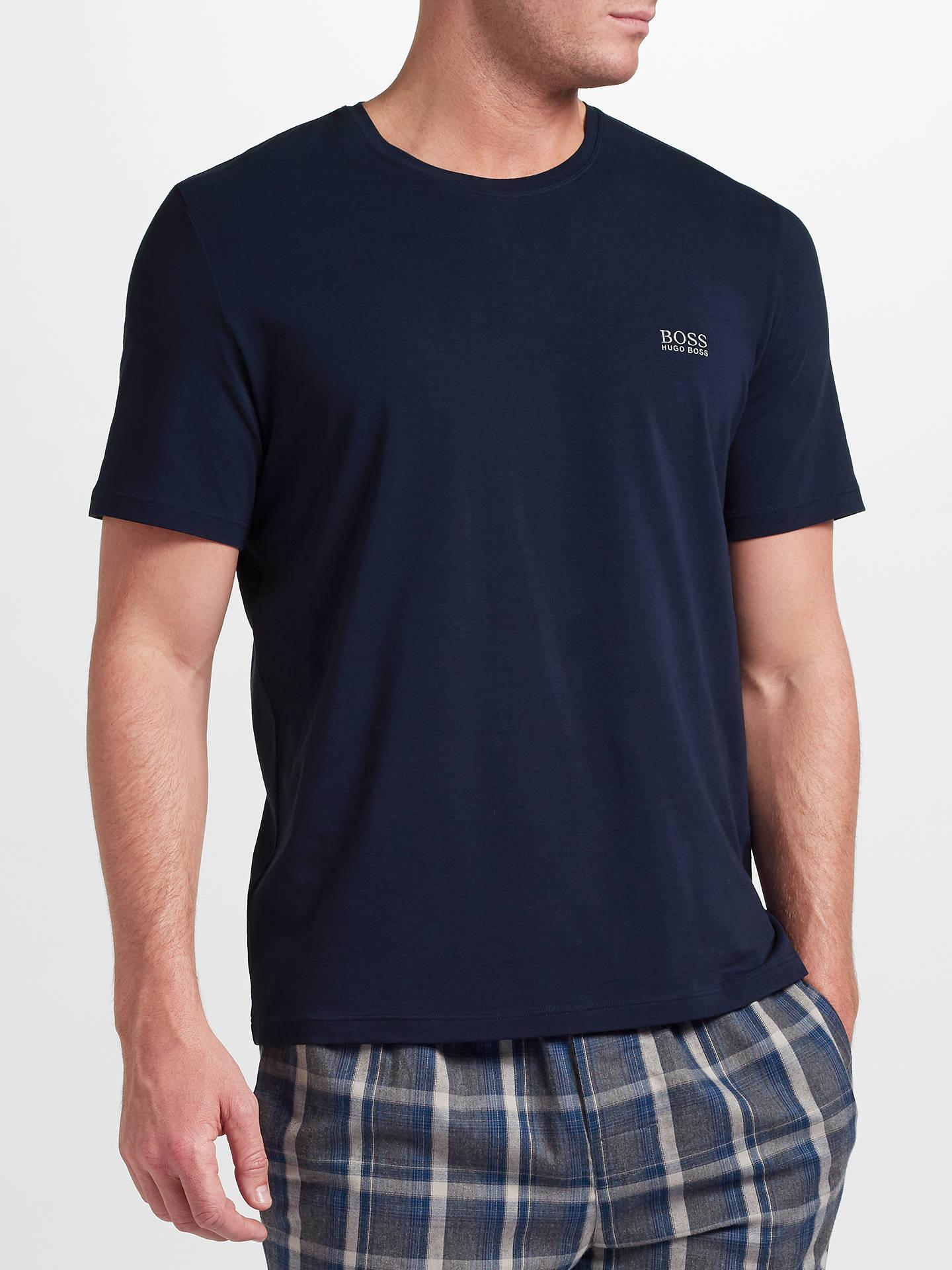 d09fbd97b BOSS Mix Match Logo T-Shirt, Navy at John Lewis & Partners