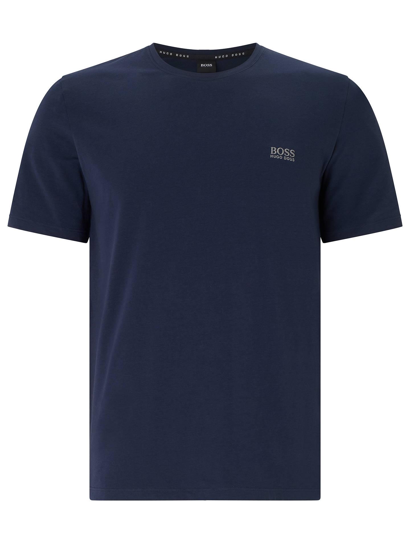 b3e421ddb Buy BOSS Mix Match Logo T-Shirt, Navy, M Online at johnlewis.