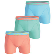 Buy Bjorn Borg Contrast Waistband Trunks, Pack of 3, Brights Online at johnlewis.com