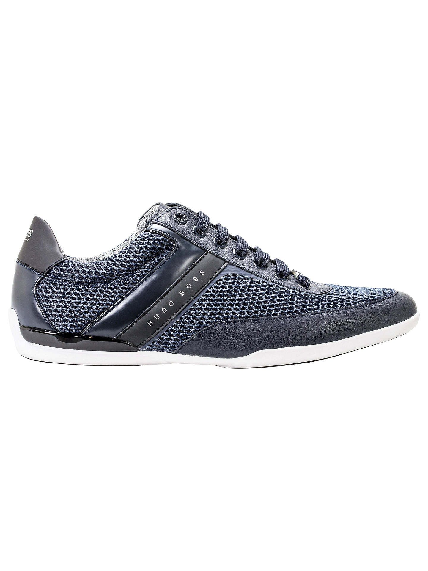 d7a71b0c9 Buy HUGO BOSS Space Trainers, Navy, 7 Online at johnlewis.com