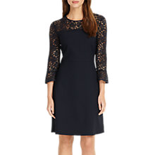 Buy Phase Eight Esme Lace Dress, Midnight Online at johnlewis.com