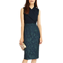 Buy Phase Eight Jacqueline Jacquard Dress, Midnight/Black Online at johnlewis.com