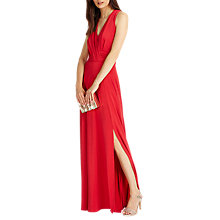 Buy Phase Eight Astrid Full Length Dress, Scarlet Online at johnlewis.com