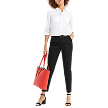 Buy Oasis Ines Trousers, Black Online at johnlewis.com