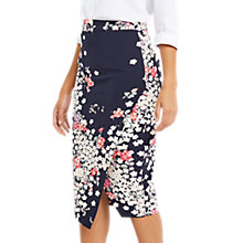 Buy Oasis Kimono Wrap Pencil Skirt, Multi/Blue Online at johnlewis.com