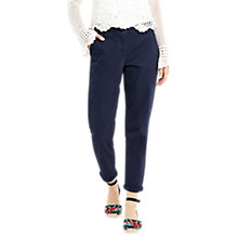 Buy Oasis Casual Cotton Chinos, Navy Online at johnlewis.com