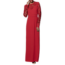 Buy Phase Eight Collection 8 Minda Cutwork Dress, Scarlet Online at johnlewis.com