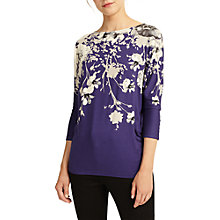 Buy Phase Eight Alexandria Printed Top, Navy Online at johnlewis.com