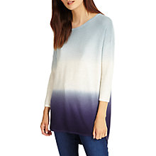 Buy Phase Eight Lynda Dip Dye Knitted Jumper, Blue/Ivory Online at johnlewis.com