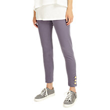 Buy Phase Eight Bobbie Button Hem Jeans, Charcoal Grey Online at johnlewis.com