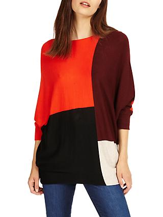 Phase Eight Becca Colour Block Jumper, Multi