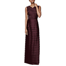Buy Phase Eight Collection 8 Hermione Layered Dress, Merlot Online at johnlewis.com
