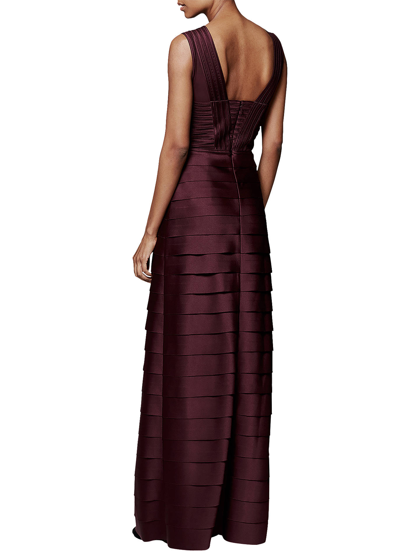 BuyPhase Eight Collection 8 Hermione Layered Dress, Merlot, 6 Online at johnlewis.com