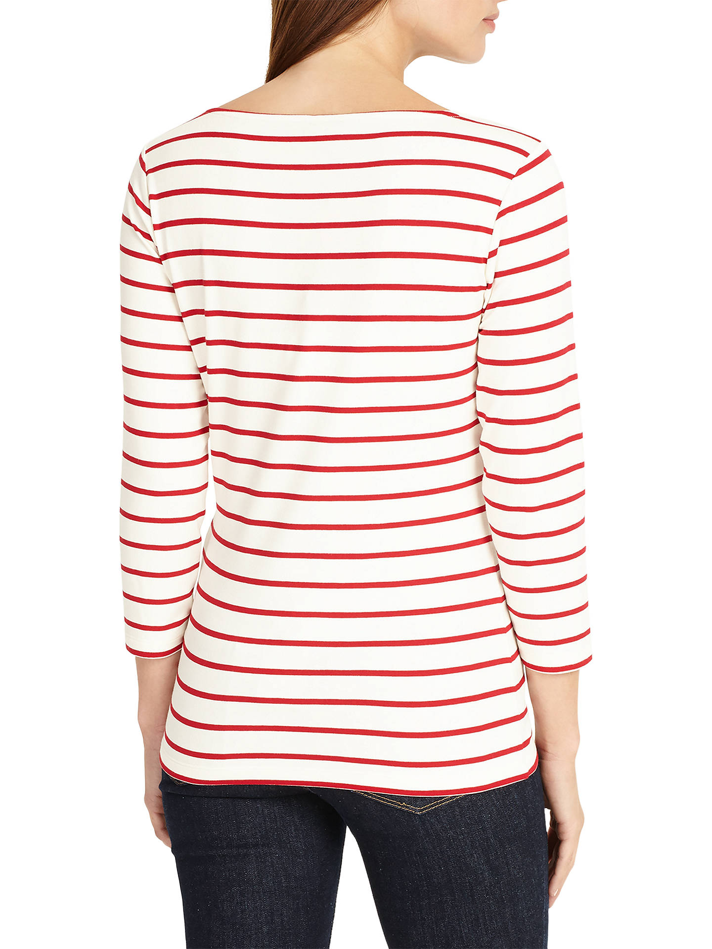 BuyPhase Eight Stella Stripe Top, Red/White, 8 Online at johnlewis.com