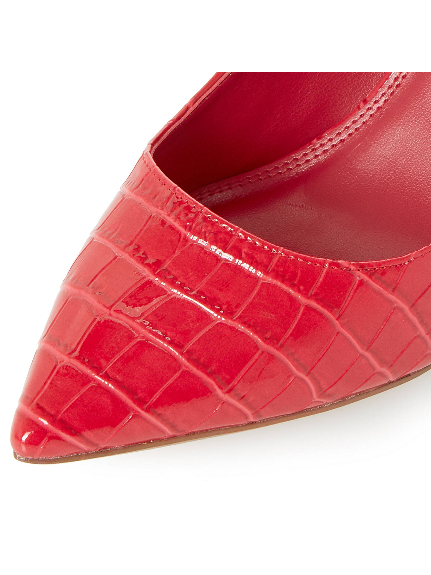 BuyDune Aurrora Pointed Toe Court Shoes, Red, 3 Online at johnlewis.com